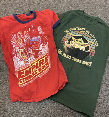 $14.99 • Buy Lot Of 2 Star Wars Brand Shirts Small Baby Yoda Empire Strikes Back (unbranded)