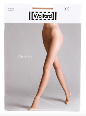 $39.50 • Buy WOLFORD Pure 10 Tights Cosmetic NIP XS, SM, M, L
