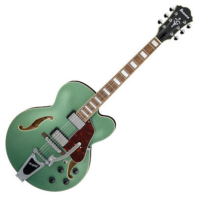 AU1029 • Buy Ibanez AFS75T MGF Artcore Electric Guitar Metallic Green Flat With Bigsby B60