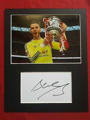 David De Gea Manchester United Genuine Hand Signed 10x8 Photo Display • 25£