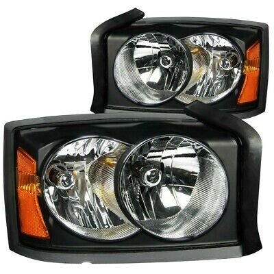 $179.99 • Buy New Anzo 111105 Black Clear Lens Crystal Headlights For 05-07 Dodge Dakota