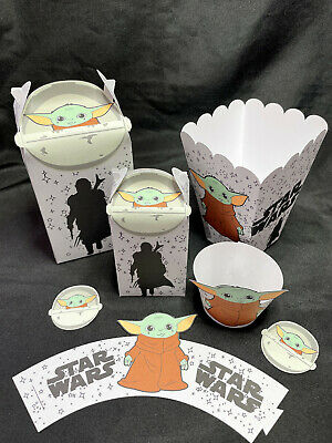 $6 • Buy Baby Yoda Gift/Favor Box/Cupcake Wrapper/Popcorn Box/Birthday Party Decoration