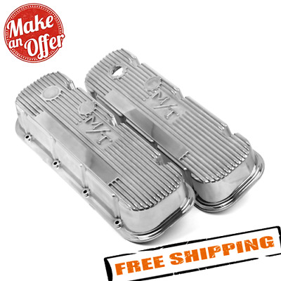 $259.99 • Buy Holley 241-84 M/T Polished Valve Covers For Big Block Chevy Engines