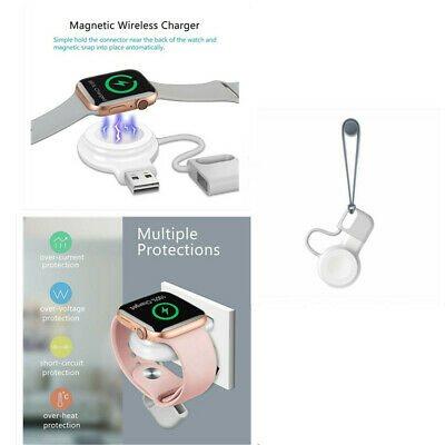 $ CDN10.14 • Buy Portable USB Magnetic Charging Wireless Charger For Apple Watch IWatch 1/2/3/4