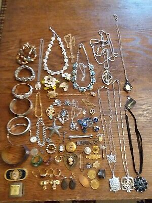 $ CDN37.67 • Buy Vintage - Modern Costume Jewelry Lot ~ Trifari, Sterling, Rgf ~ Resell Or Crafts