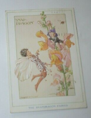 MEDICI MARGARET W.TARRANT FAIRY Postcard POSTED 1934 THE SNAPDRAGON FAIRIES • 2.99£