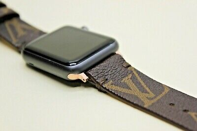 $ CDN61.41 • Buy Apple Watch Band Luxury Leather 38 Mm, 40 Mm, 42 Mm, 44 Mm,Series 1,2,3,4,5,6,S
