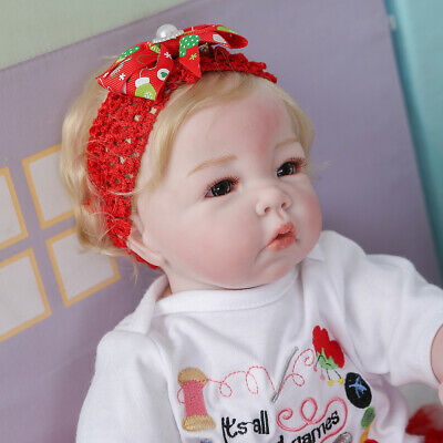 $ CDN72.58 • Buy 20  Reborn Baby Dolls Cloth Body Lifelike Girl Handmade Doll Silicone Vinyl 50CM