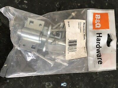 Gate Lock - B&Q Brenton Bolt Zinc Plated 102mm • 2£
