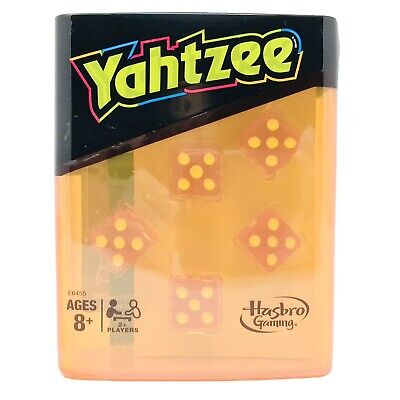 AU14.16 • Buy Yahtzee Travel Game Neon Pop Board Dice Orange Case With 100 Score Cards • New
