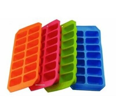 Soft Silicon Ice Cube Tray Ice Cream Compartment Container High Quality BPA Free • 3.99£