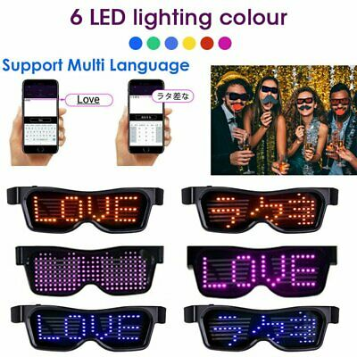 NEW LED Glasses Customizable Light Up Glow Flashing Sunglasses Nightclub Party • 21.29£