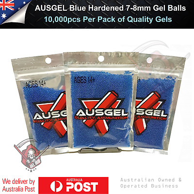 AU10.95 • Buy Ausgel Hardened 7-8mm Gel Balls Blue 10,000 Gel Blaster Toy Ammo Toy Gun 7mm AU