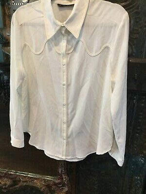 $12.30 • Buy Zara Ivory Shirt With Matching Ribbon Size Large