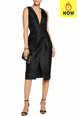 $51.12 • Buy RRP €2730 ZIMMERMANN Brocade Sheath Dress Size 1 / S Black Fully Lined Floral