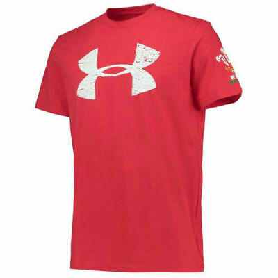 Under Armour Official WRU Wales Rugby T Shirt Red Loose Fit MRRP £24.99!! • 11.99£