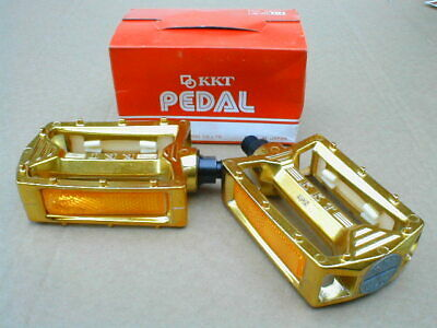 AU127.67 • Buy  NOS BMX KKT AMX PEDALS GOLD 1/2  AXLE BOXED EARLY 80's OLD SCHOOL