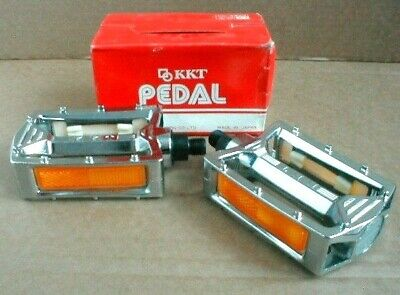 AU127.67 • Buy  NOS BMX KKT AMX PEDALS CHROME PLATE 9/16  AXLE BOXED EARLY 80's OLD SCHOOL