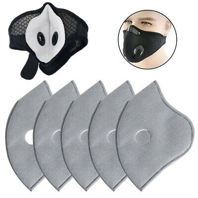 $ CDN8 • Buy 10X PM2.5 Activated Carbon Filter 5 Layer Replaceable For Face Mask Cover Safety