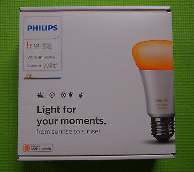 AU101.52 • Buy Philips Hue Starter Kit A60 White Ambiance[2x Bulbs+Wireless Bridge+Switch]