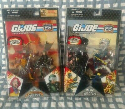 $ CDN64.34 • Buy GI Joe 25th Anniv. Hawk Scarlett Snake Eyes Storm Shadow Comic 2pack Set Lot POC