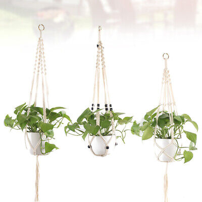 $ CDN21.33 • Buy 3pcs Gardening Pots Net Knotted String Bag Hanging Basket For Balcony Courtyard