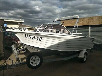 AU29500 • Buy 2010 Quintrex 5,7m Coast Runner With Yamaha 115hp Only 50 Hours