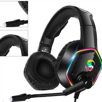 £13.59 • Buy Gaming Headset For PC Xbox One PS4 Nintendo Switch 3.5mm USB Headphones With Mic