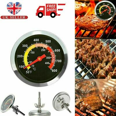50-400℃ BBQ Thermometer Barbecue Smoker Stainless Steel Grill Temperature Gauge • 5.37£
