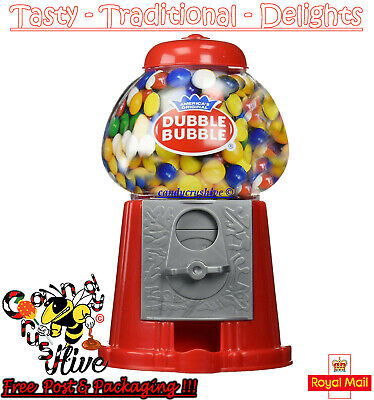 Gumball Vending Machine Gum Dispenser Toy Coin Bank 80g Bubble Gum Included • 9.47£