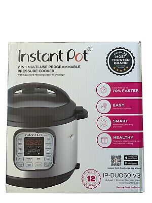 $99 • Buy Instant Pot DUO60 6 Qt 7-In-1 Multi-Use Programmable Pressure Cooker NEW BOX