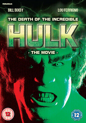 The Death Of The Incredible Hulk DVD (2018) Bill Bixby Cert 12 Amazing Value • 5.98£