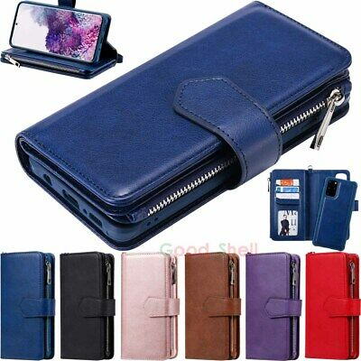 $ CDN17.62 • Buy For Samsung S20 S10 S9 S8 Note 10+ Detachable Magnetic Wallet Leather Case Cover