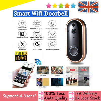 1080P Smart Wireless Doorbell Camera Video WiFi Security Door Bell Two-Way Talk  • 31.69£