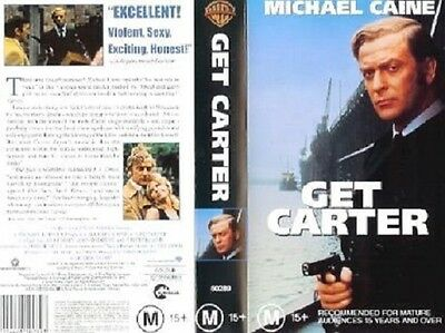 Michael Caine Get Carter Classic Cult British Gangster  Movie VHS Pal Video • 10.88£
