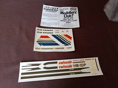 £2.49 • Buy Airfix Model Vintage Partial Transfer Sets For Concorde And Swissair D.C. 9