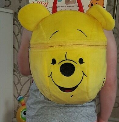 Disney George Winnie The Pooh Baby Toddler Backpack Bag With Reins First Walkers • 7.25£