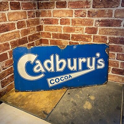 £495 • Buy Vintage Enamel Sign - Early Cadburys - Advertising - #4471