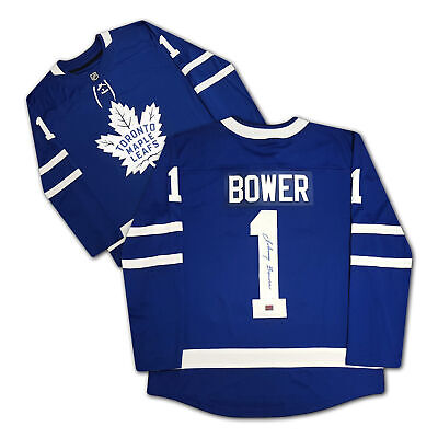 $ CDN270 • Buy Johnny Bower Autographed Blue Toronto Maple Leafs Jersey