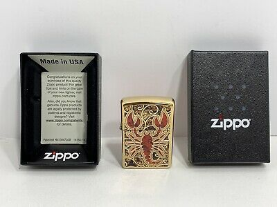 $10.50 • Buy Zippo Scorpion Shell Pocket Lighter Model 29096, NEW!