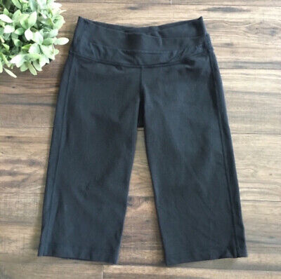 $ CDN24 • Buy Lululemon Astro Crop Pants Size 6 Solid Black Waist Relaxed Leg Style Summer
