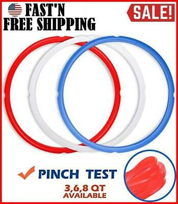 $12.59 • Buy Silicone Sealing Rings For Instant Pot Accessories Fits 5 Or 6 Quart Models