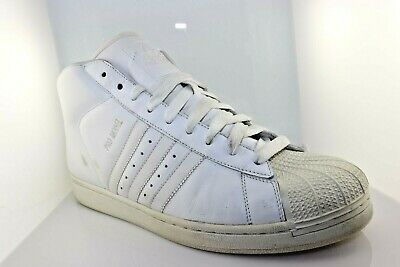 £36.22 • Buy 2008 Adidas Pro-Model Shell Toe Leather High Top Sneakers Size 12