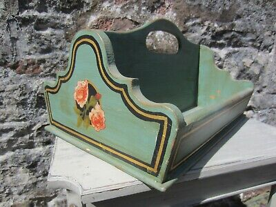 Vintage Style Hand Made Cutlery Tray/Storage Box. Hand Decorated With Gold Leaf. • 48£