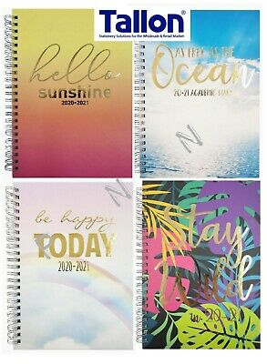 A5 2020-2021 Week To View Academic Diary Hardback Spiral Student Teacher Diary • 2.59£