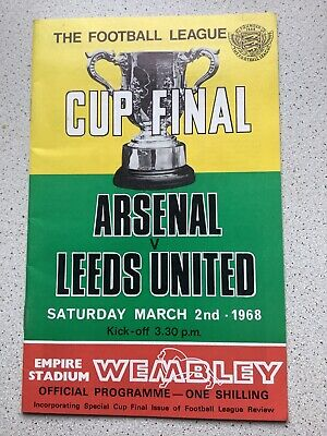 1968 League Cup Final ARSENAL V LEEDS UNITED Programme • 3.50£