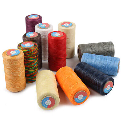 $4.97 • Buy Waxed Thread 0.8mm/284Yard Flat Polyester Cord F/ Sewing Stitching Leather Craft