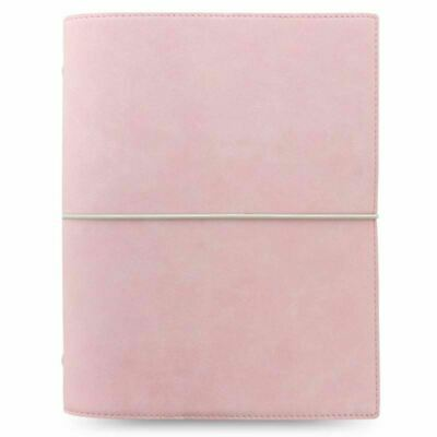 Filofax Domino Soft A5 Organiser Pale Pink Leather Look Finish Cover With Diary • 33.60£