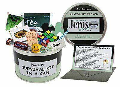 Father Of The Bride Survival Kit In A Can. Humorous Novelty Gift - Wedding Day • 16.99£