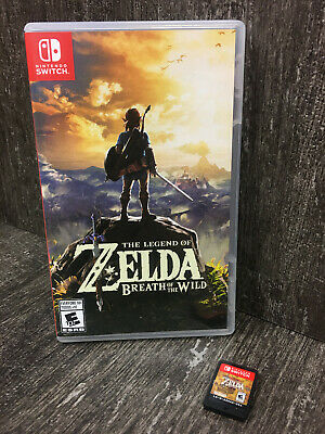 $36 • Buy Nintendo SWITCH The Legend Of Zelda Breath Of The Wild Game Case Art Cover Nice!